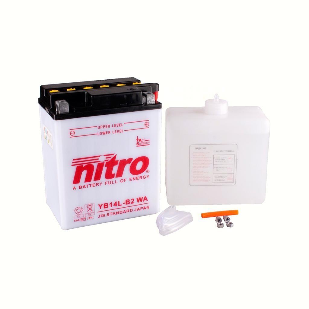 Nitro - Batterie YB14L-B2 WA Blei-Säure 161-147-0050