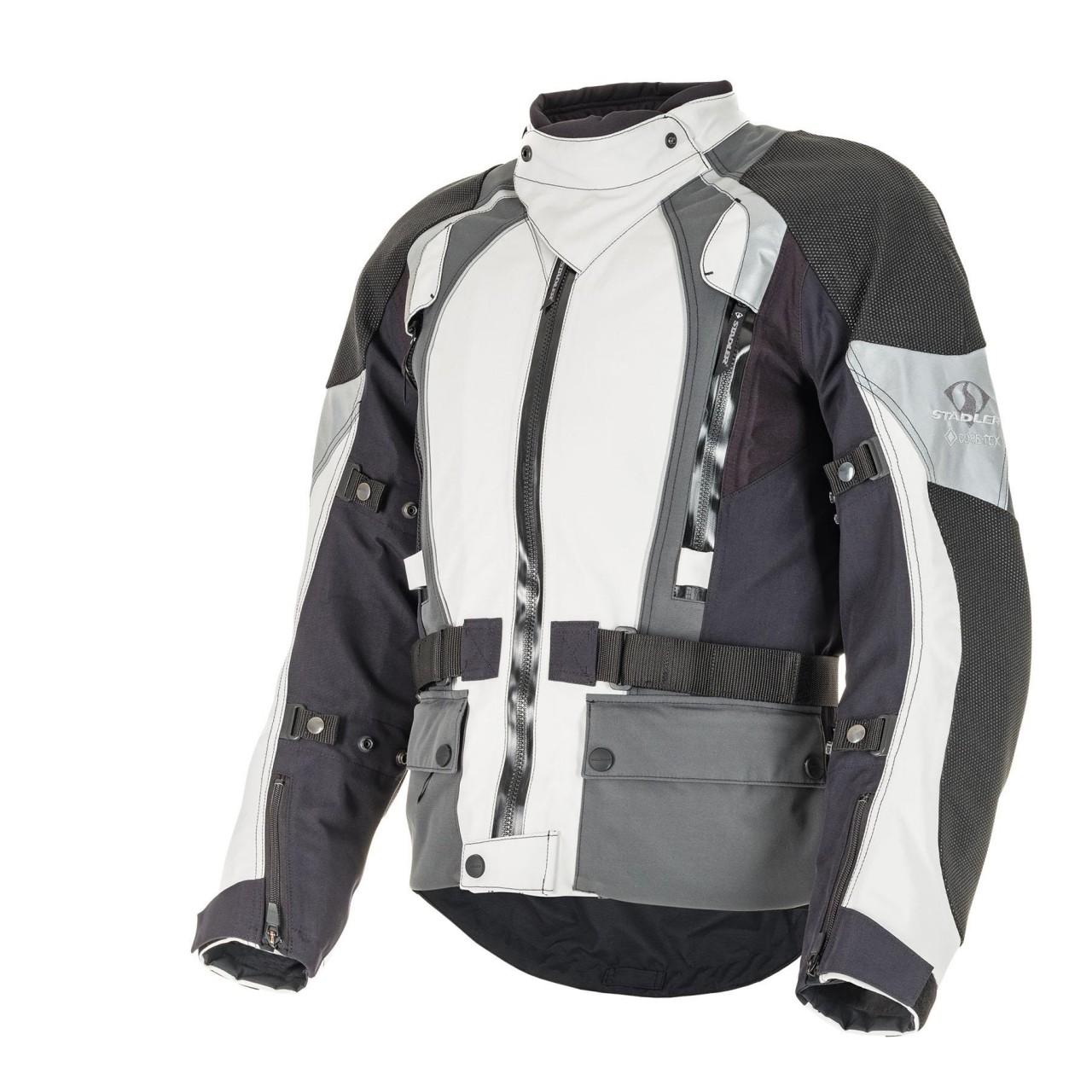 Stadler - SuperVent 3 Pro Motorradjacke 56 Light Grey / Grey / Black 92578H-950-56
