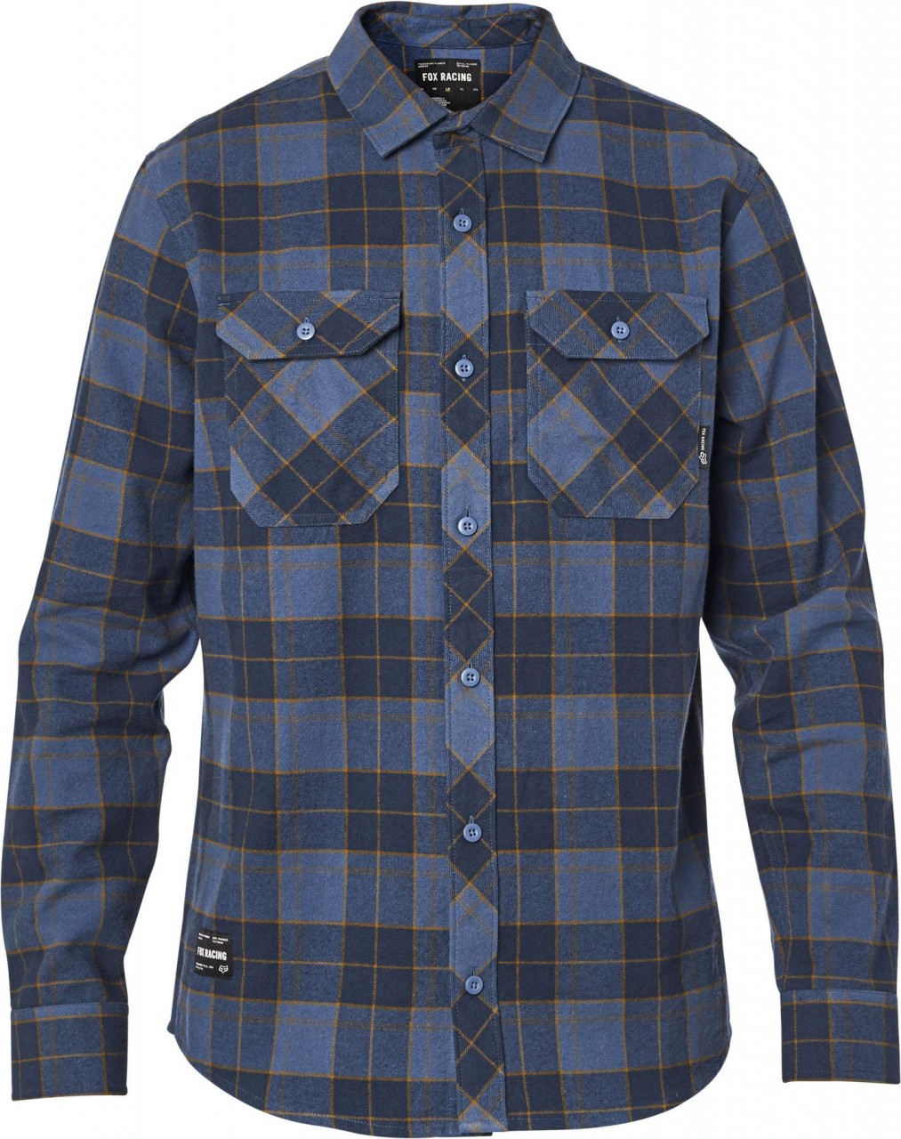 Fox - Traildust 2.0 Flannel-Hemd L Navy / Gold 23826-156-L